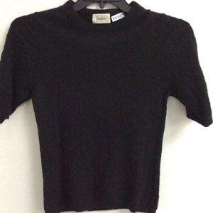 Neiman Marcus Pullover Sweater Black Cashmere M